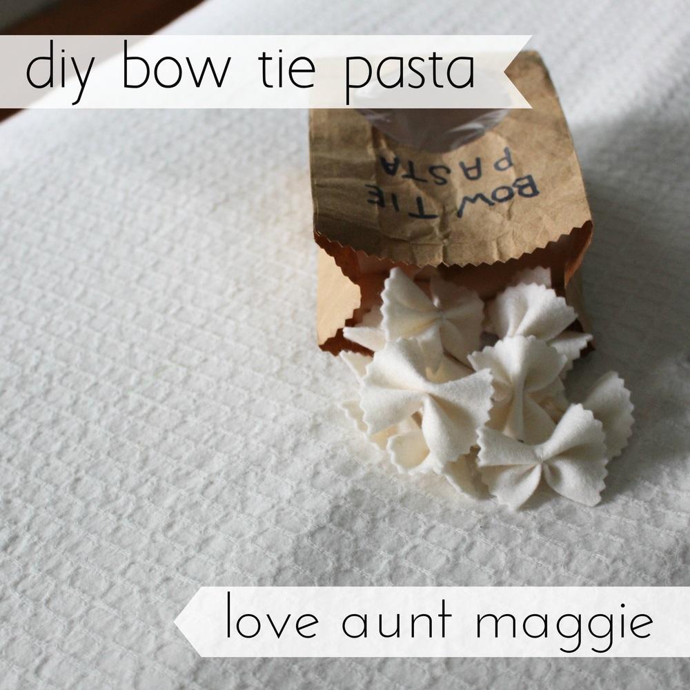 love aunt maggie | bow tie pasta