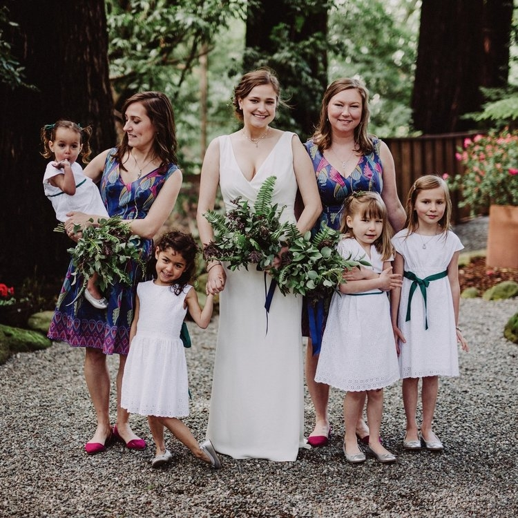 at my wedding in 2017, from left to right: neela, sammie, maya, myself, abby, etta, and nora