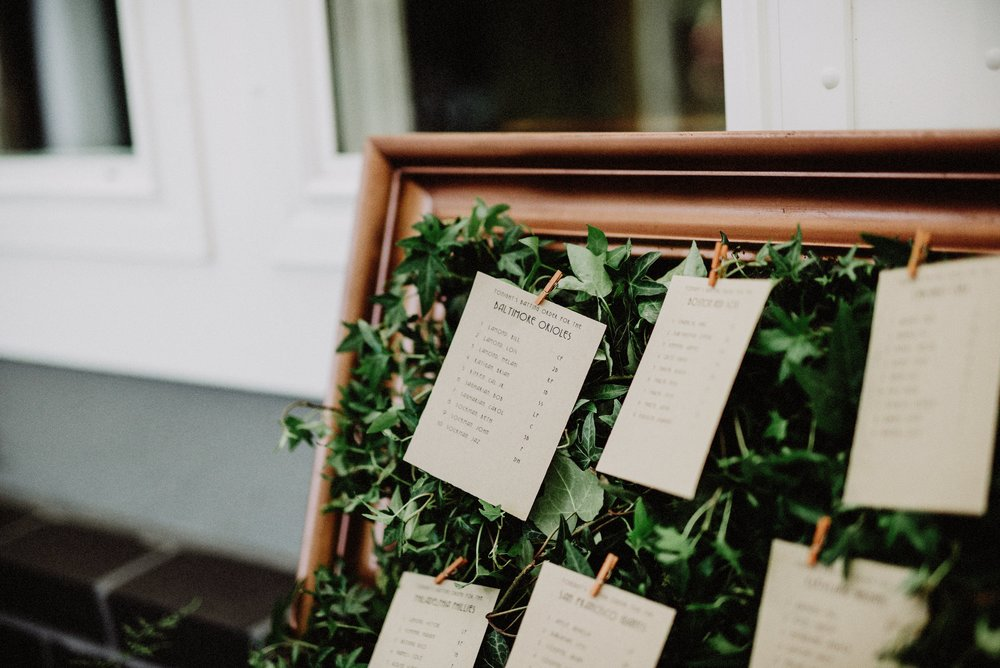 batting order table assignments  and  living ivy wall