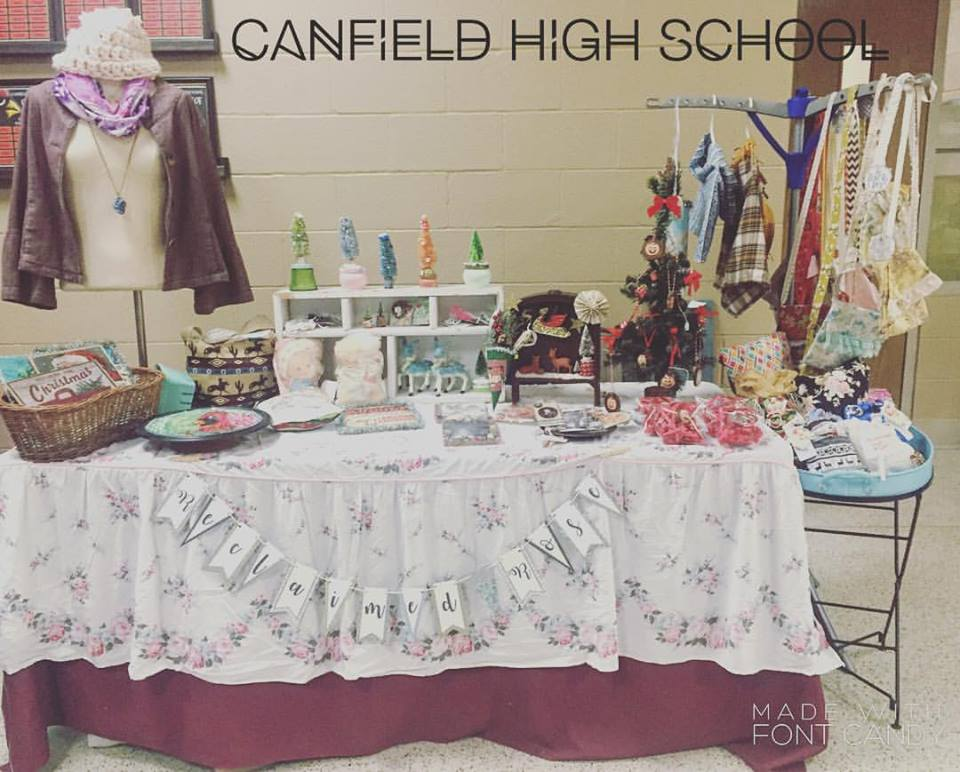 My set up at the Canfield High School show.