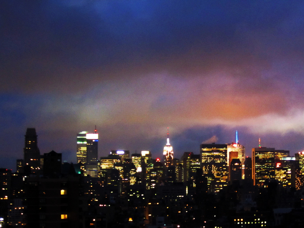 New  York city skyline during a thunderstorm (it was terrifying)