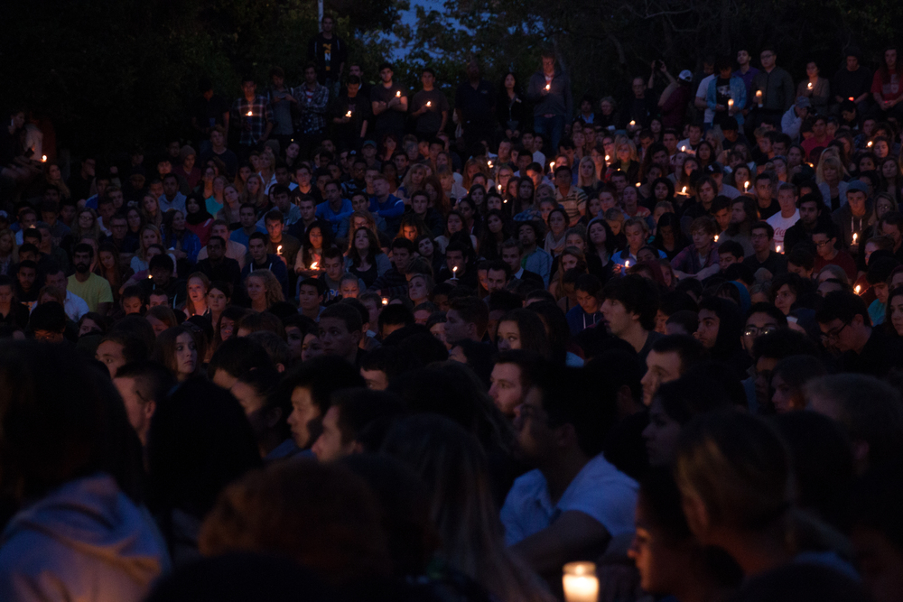 Candlelight vigil for the victims