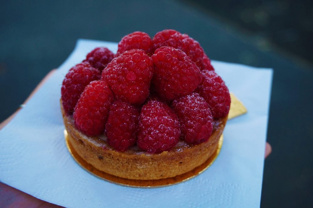The raspberry tarte was amazing too...creamy, tart, basically perfect.