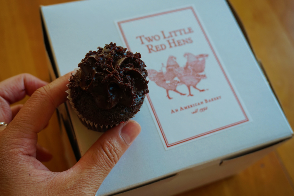 Brooklyn Blackout mini-cupcake (it had chocolate pudding inside!) from Two Little Red Hens bakery