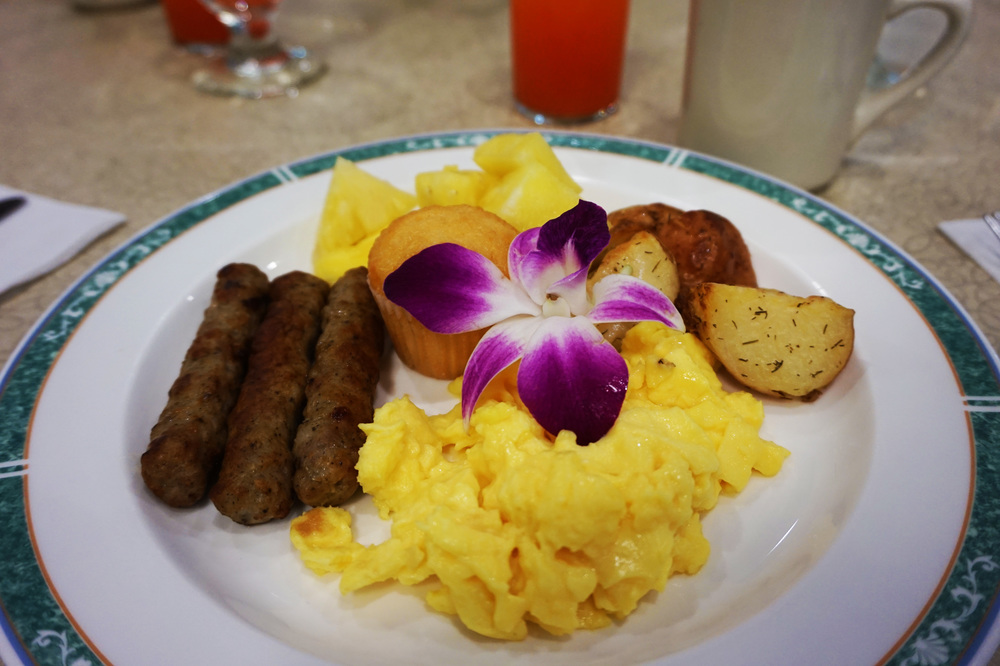 Not a traditional Hawaiian breakfast or anything; I just thought it was so pretty