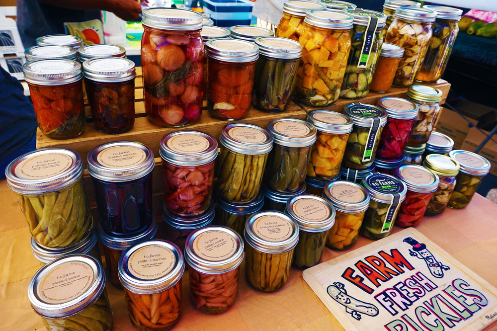 Every kind of vegetable you can imagine, in pickle form