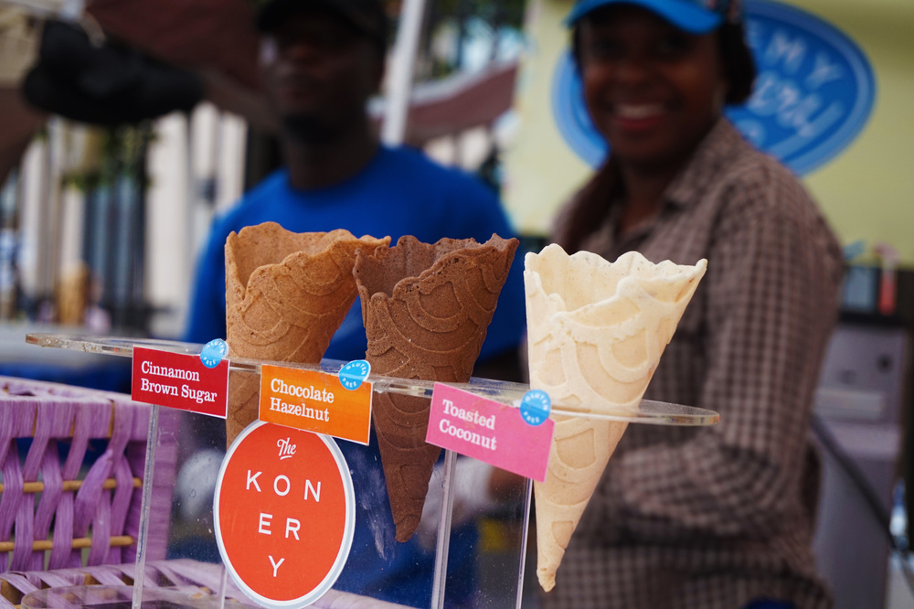 FLAVORED ice cream cones from The Konery...we live in the future