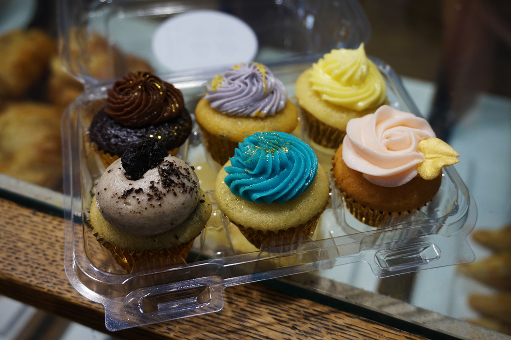 Cupcakes from a little bakery in the East Village...aren't they beautiful?