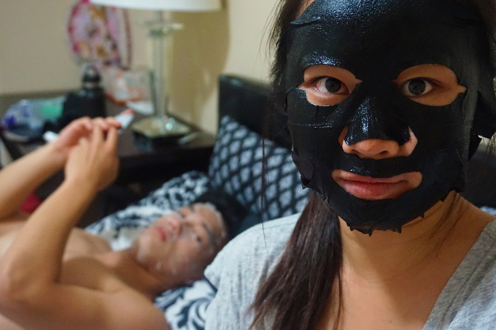 Snail and black charcoal sheet masks