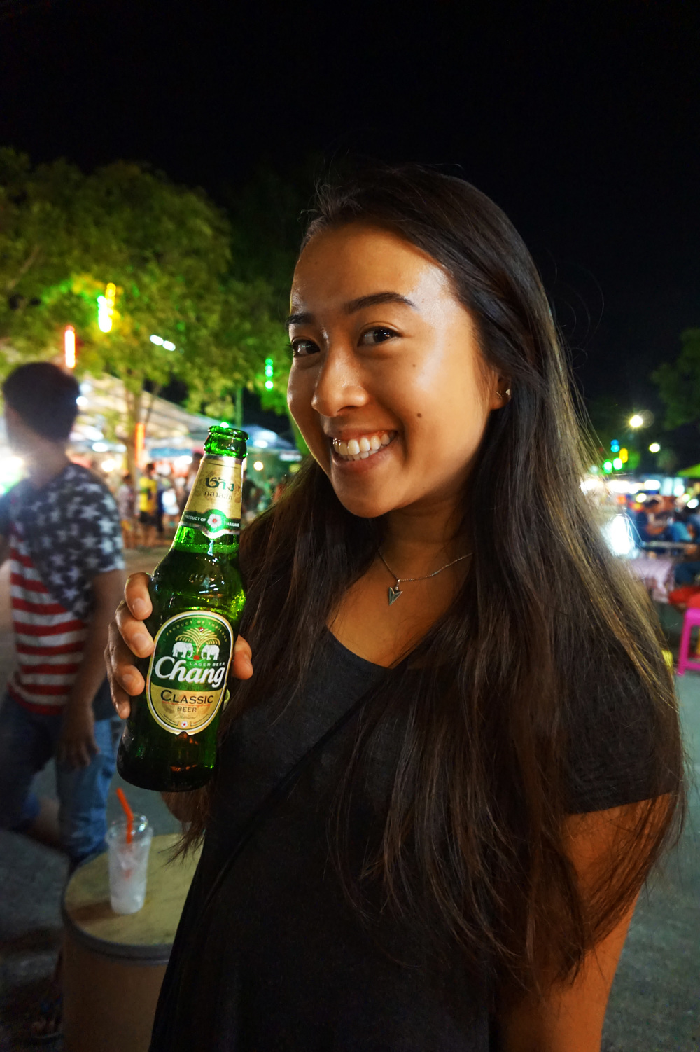 """Chang"" means ""elephant"" in Thai, which is why it's featured on all of the beer bottles with two elephants"