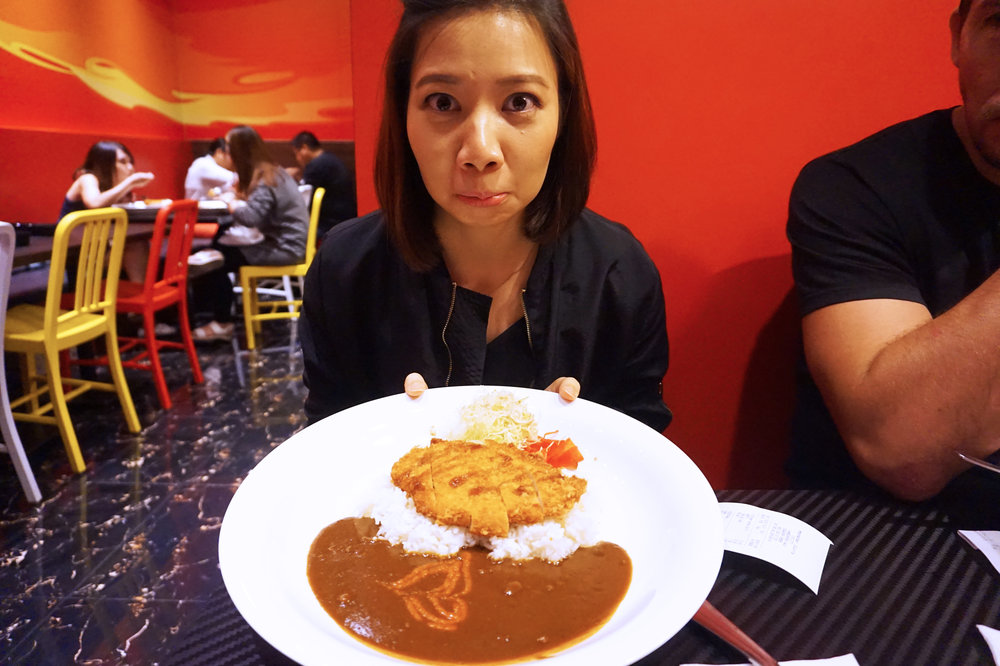 Japanese curry from Monster Curry (Eileen for scale)