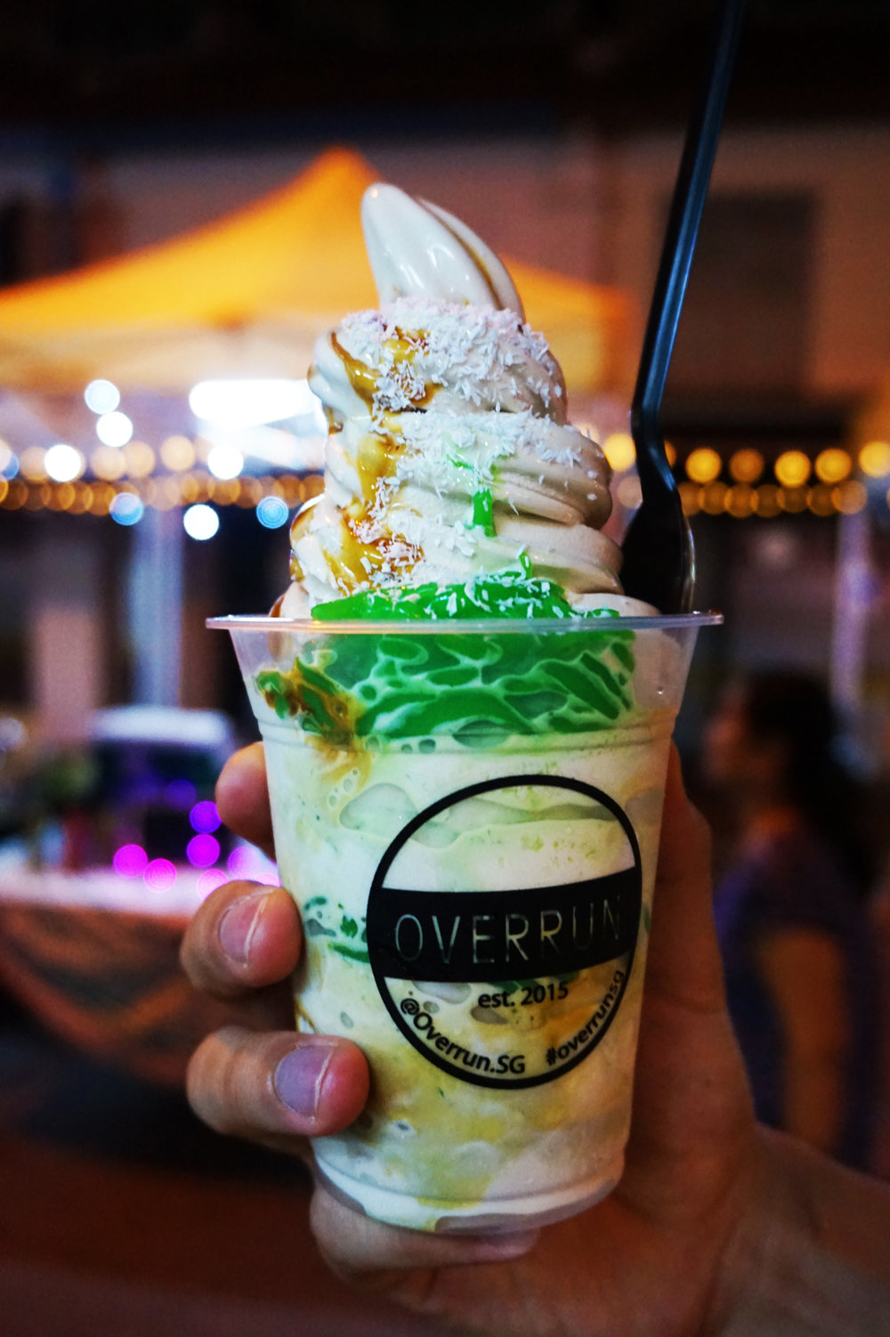 Iced chendol with gula melaka from Overrun SG