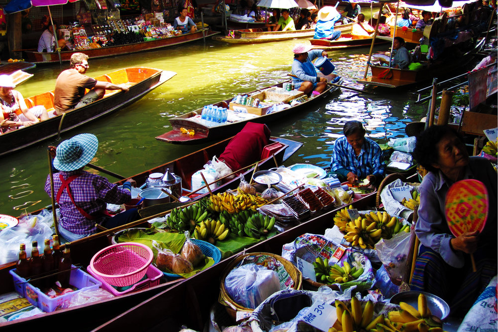Floating market in Thailand, c. 2011
