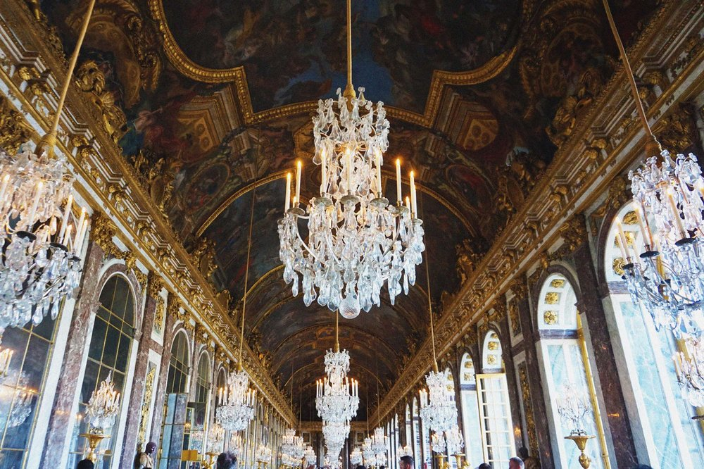 The famed Hall of Mirrors of Versailles