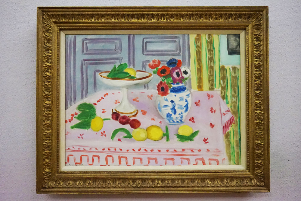 """Matisse believed the purpose of painting was to communicate joy and happiness. He wanted the viewer to notice what was around them, and by contrasting shapes and colors, he brings a fresh viewpoint to everyday things."""
