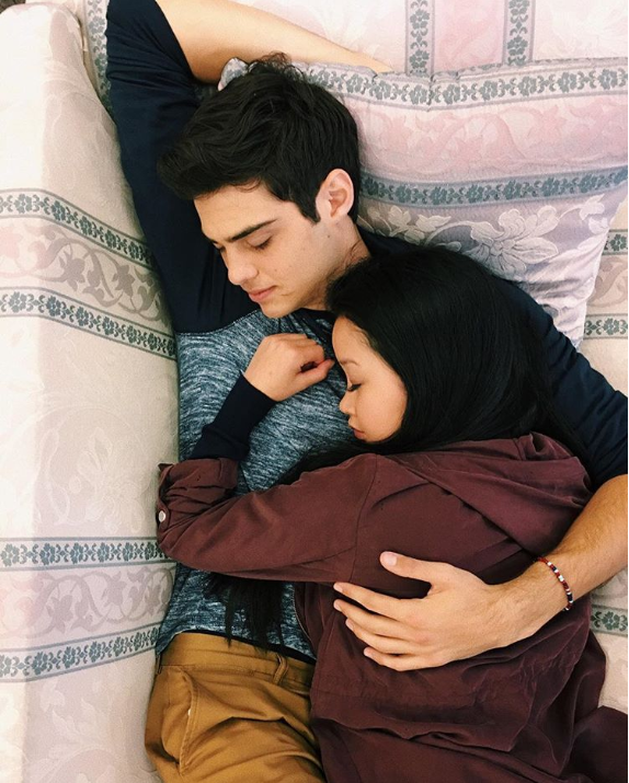 Lana Condor and Noah Centineo in  To All The Boys I've Loved Before  (via   The Atlantic  )