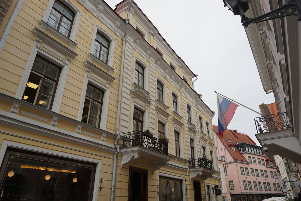 Old Town Estonia, 2018 (I'm fairly certain that's the same pink building)