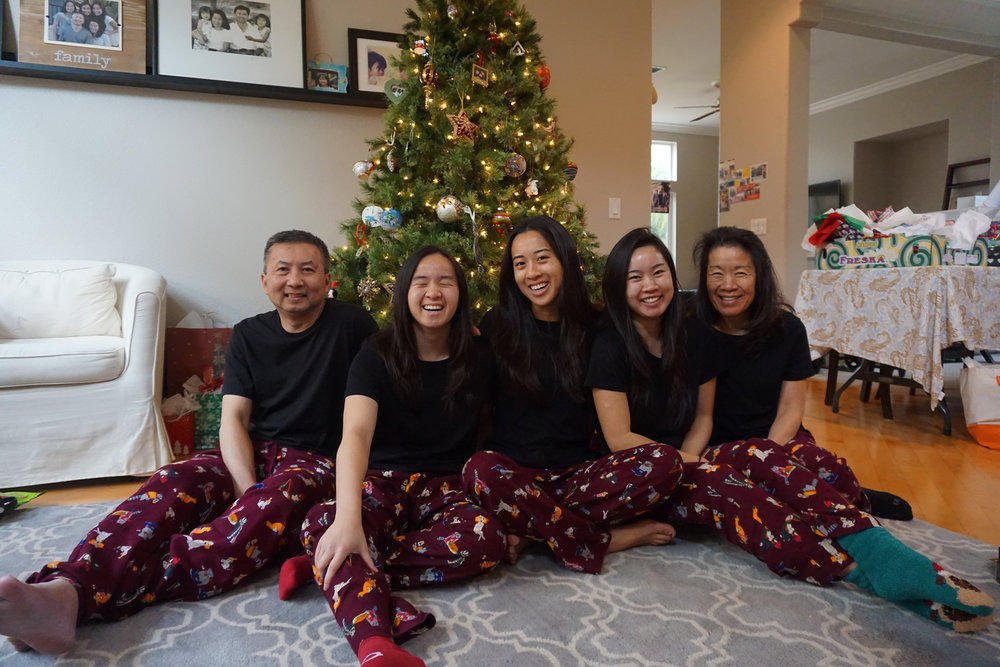 My family's annual Christmas pajama photo