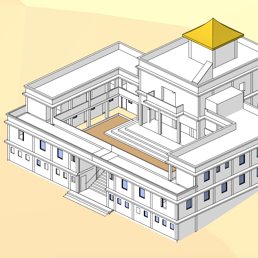 Nepalese Buddhist Temple Plan