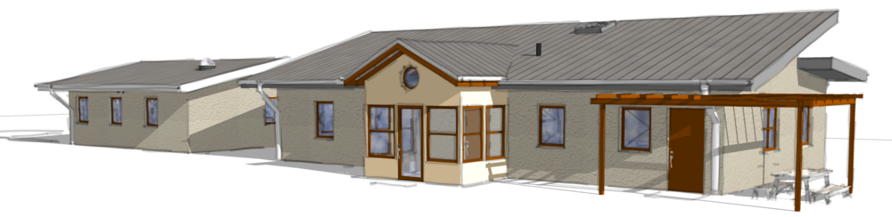 Rendering of Strawbale House in Temecula