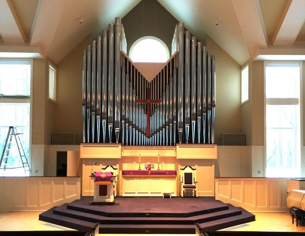 Schantz Organ Bath Church Photo by Brian Ebie