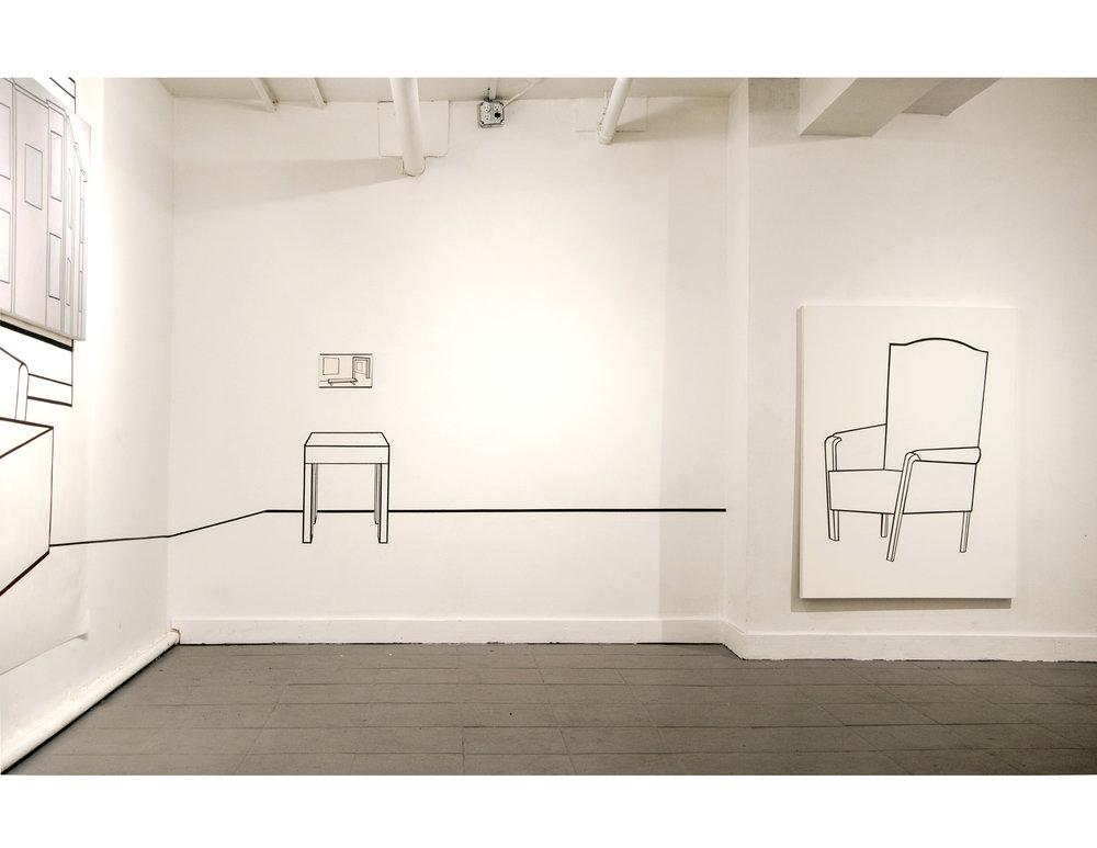 Installation view from Plays A Rusted Trombone