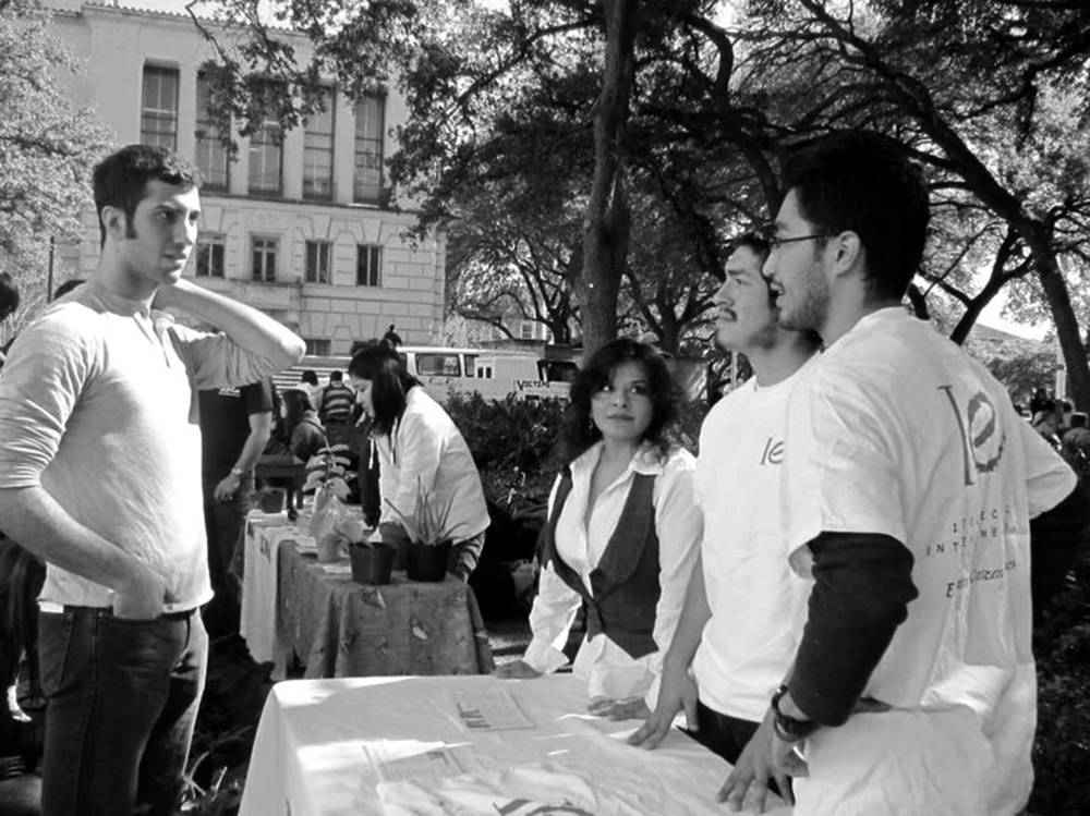 Students from the Intellectual Entrepreneurship Citizen Scholars group at the University of Texas