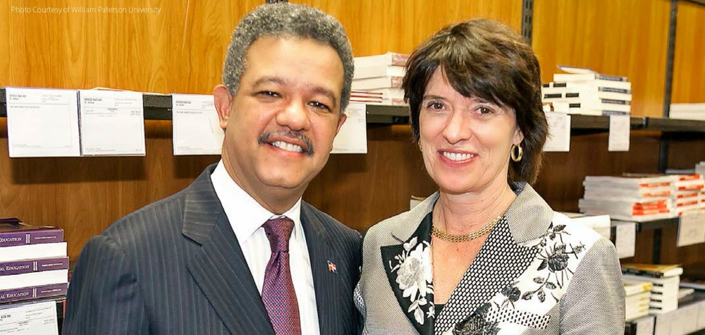 President Waldron and Leonel Fernandez president of the Dominican Republic touring campus on his visit to WP. Photo Courtesy of William Paterson University