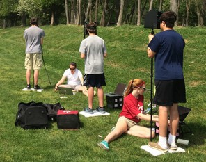 IU researchers conduct outdoor assessments of young athletes' eye movement and balance