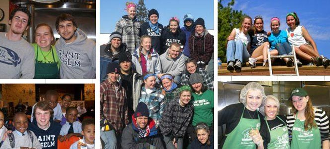 Saint Anselm students participating in the 2016 Service and Solidarity Mission Program.