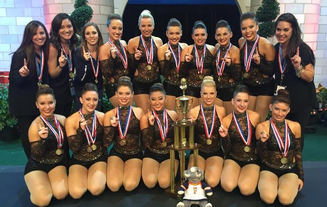 The Cal State Fullerton Dance Team picked up its 15th national title at the 2016 College Cheerleading and Dance Team Naitonal Championship.