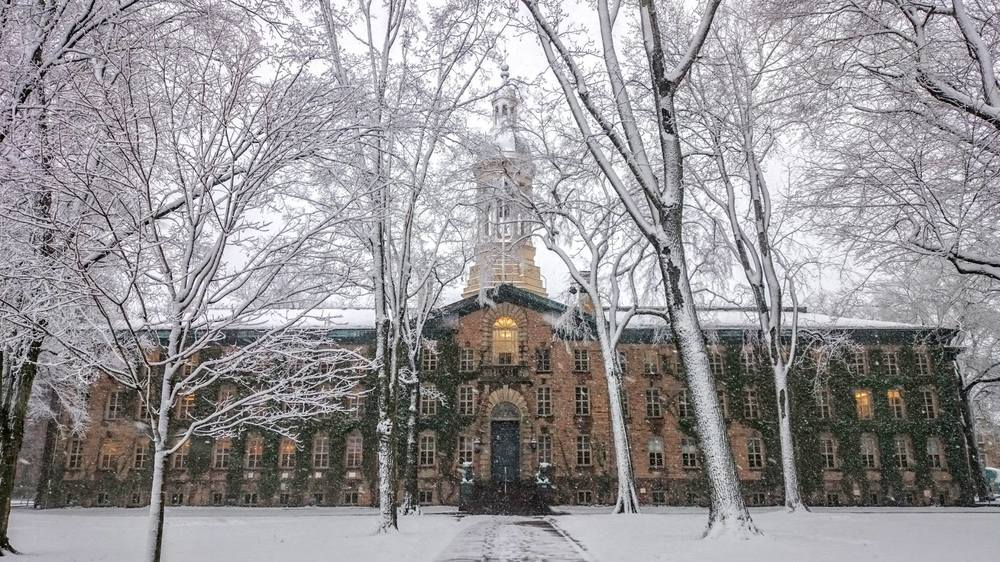 Nassau Hall in the snow (Photo by Morgan Kelly). Photo Courtesy of Princeton University's Facebook Page.