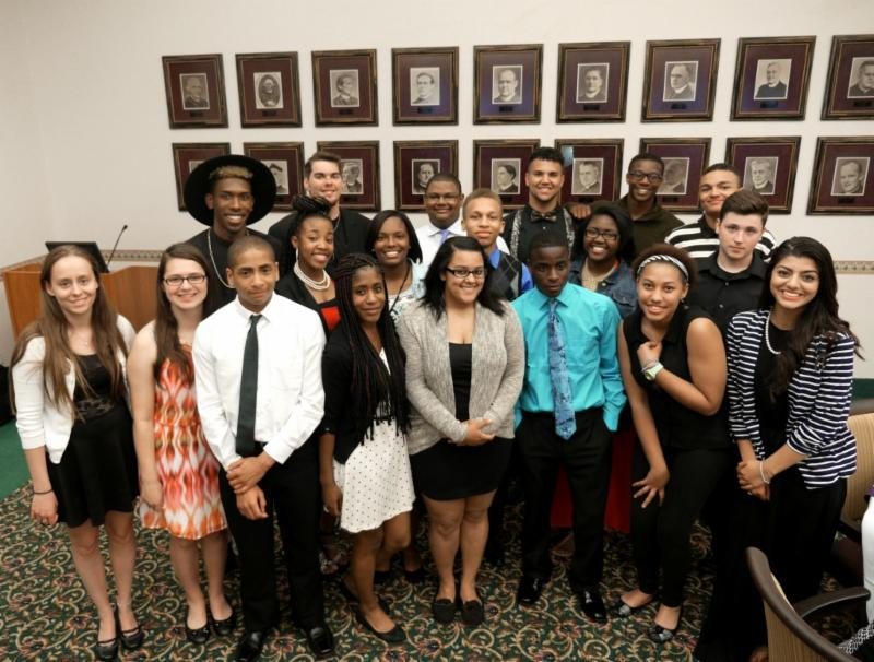 The 2015 graduates of Niagara University's Early College/Smart Scholars program