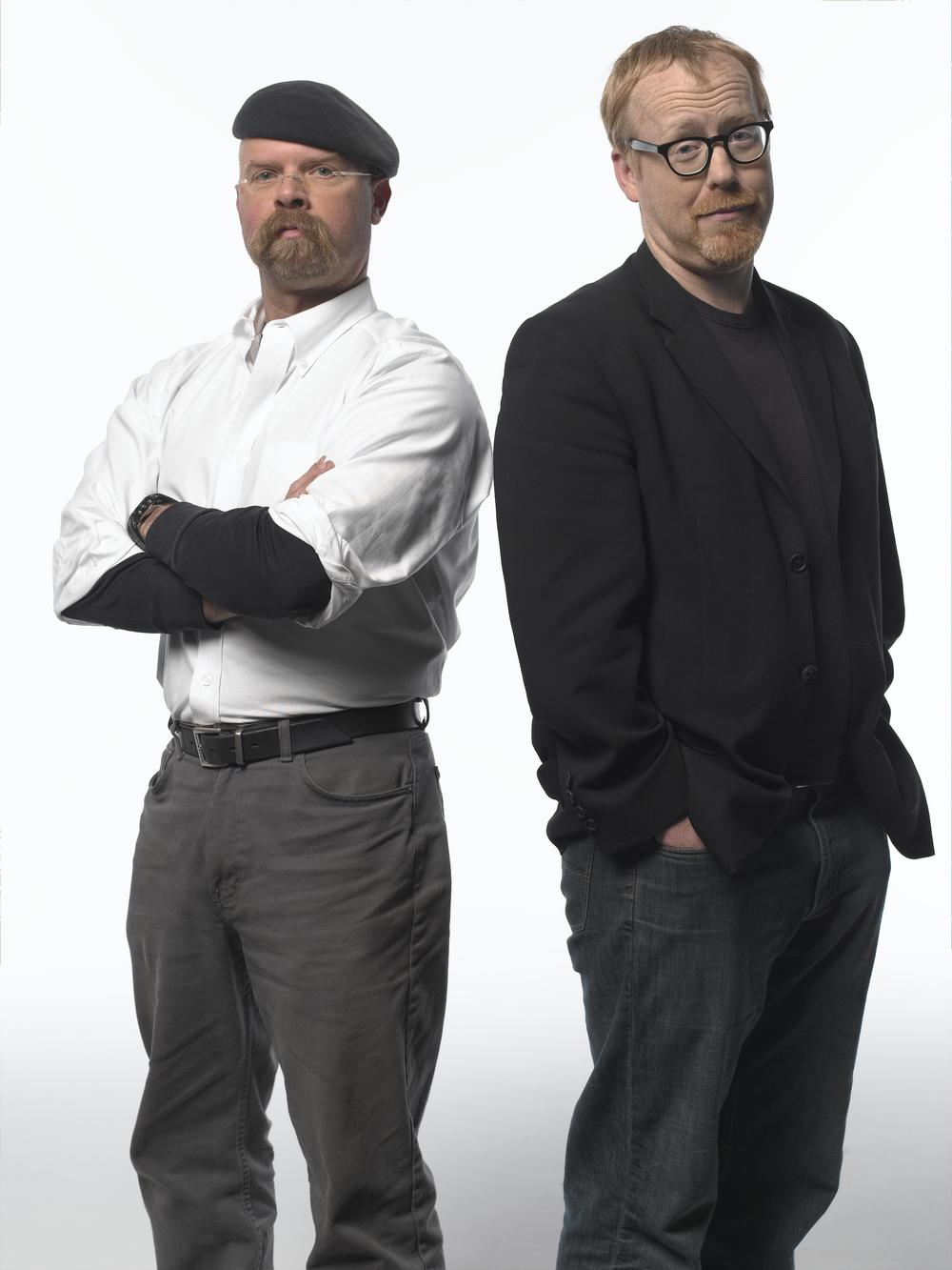 "Jamie Hyneman, left, and Adam Savage, hosts of ""Mythbusters,"" are keynote speakers of the March 17 science symposium at Cal State Fullerton."
