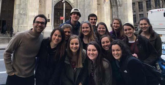 Saint Anselm students' service trip to NYC