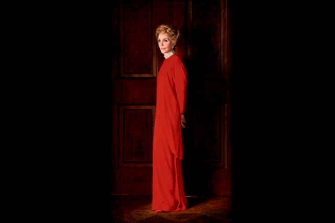 Portrait of Nancy Davis Reagan by Aaron Shikler, 1987.  Photo Courtesy of whitehouse.gov