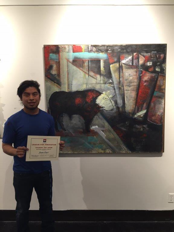 League art winner Juan Cruz from DCCCD