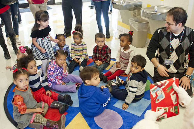 Preschoolers at the Bronx Community College Early Childhood Center