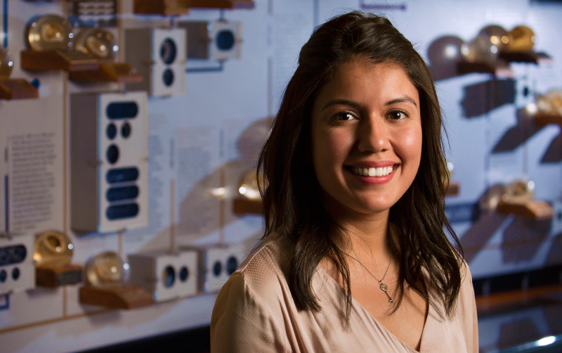 Cal State Fullerton alumna Jeanette Corona is an engineer at Edwards Lifesciences, a medical equipment company in Irvine.