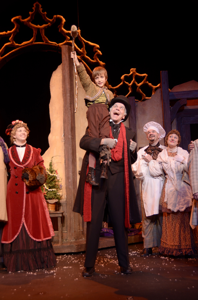 Andy Harvey of the Nebraska Theatre Caravan will play Ebenezer Scrooge in the theatrical adaptation of the Charles Dickens classic A Christmas Carol at Kean University's Wilkins Theatre in Union, N.J. on December 3.