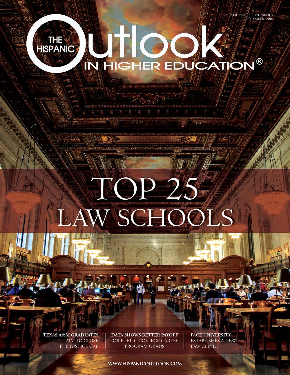 top 25 law schools hispanic outlook magazine