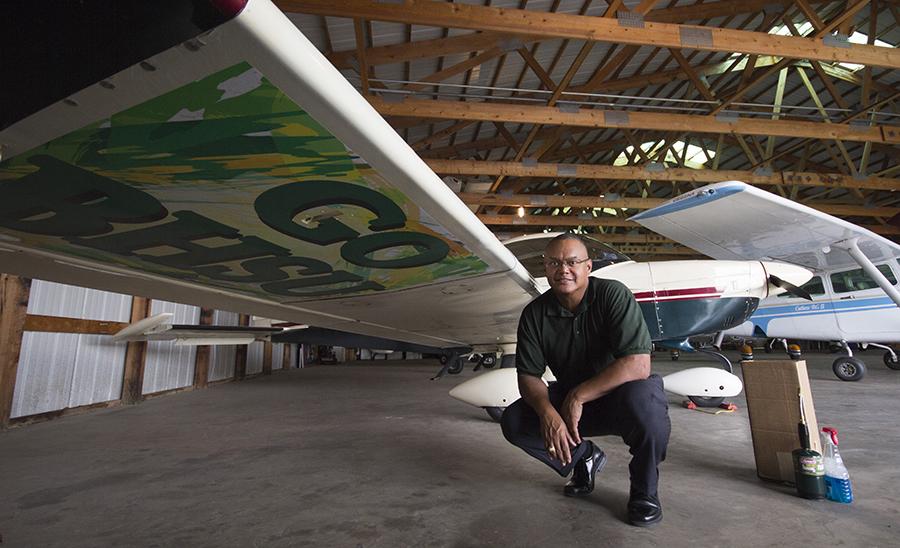 Tom Jackson, Jr., president of Black Hills State University in Spearfish, S.D., owns a Grumman Cheetah.