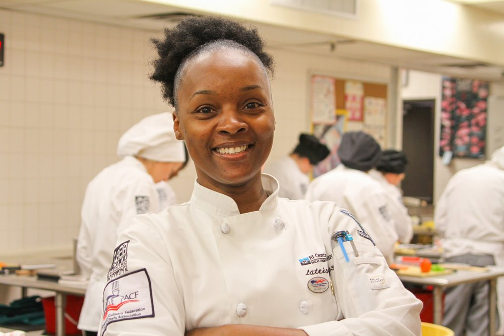 Mother of three Lateisha Hayes is a full time student and works full time as a chef apprentice