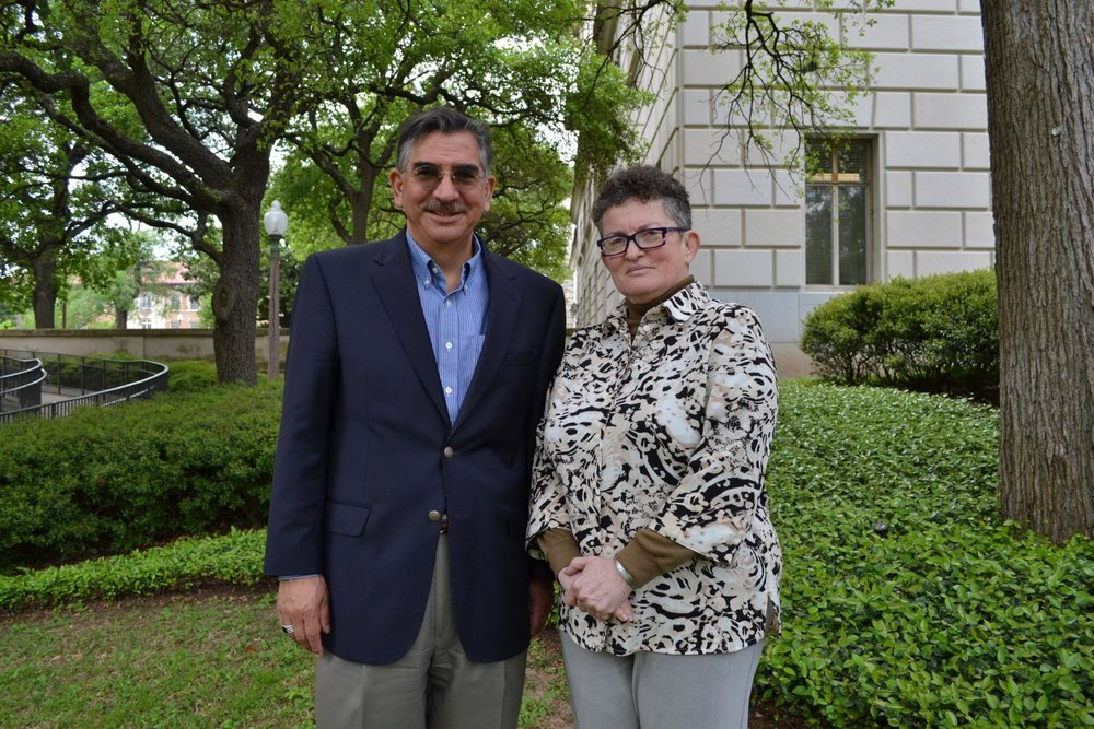 Richard Flores and Esther Raizen.Photo by Emily Nielsen, College of Liberal Arts.