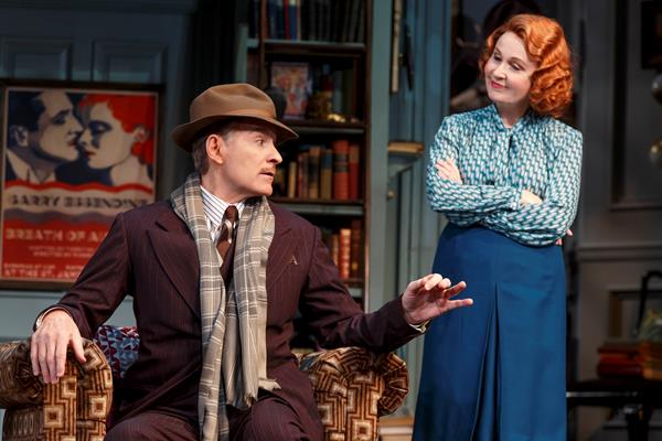 Kevin Kline and Kate Burton in a scene from Broadway's Present Laughter. Image by Joan Marcus. Below: Kate Burton in Scandal. Image by ABC/Richard Cartwright.