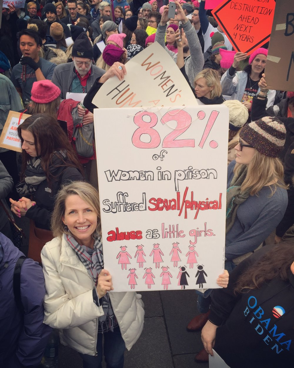 Raising awareness in our nation's capital - Women's March on WashingtonJanuary 2017