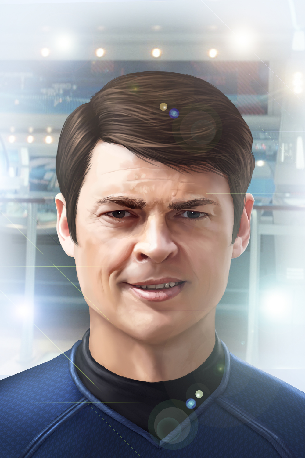 Karl Urban as Dr. Leonard 'Bones' McCoy