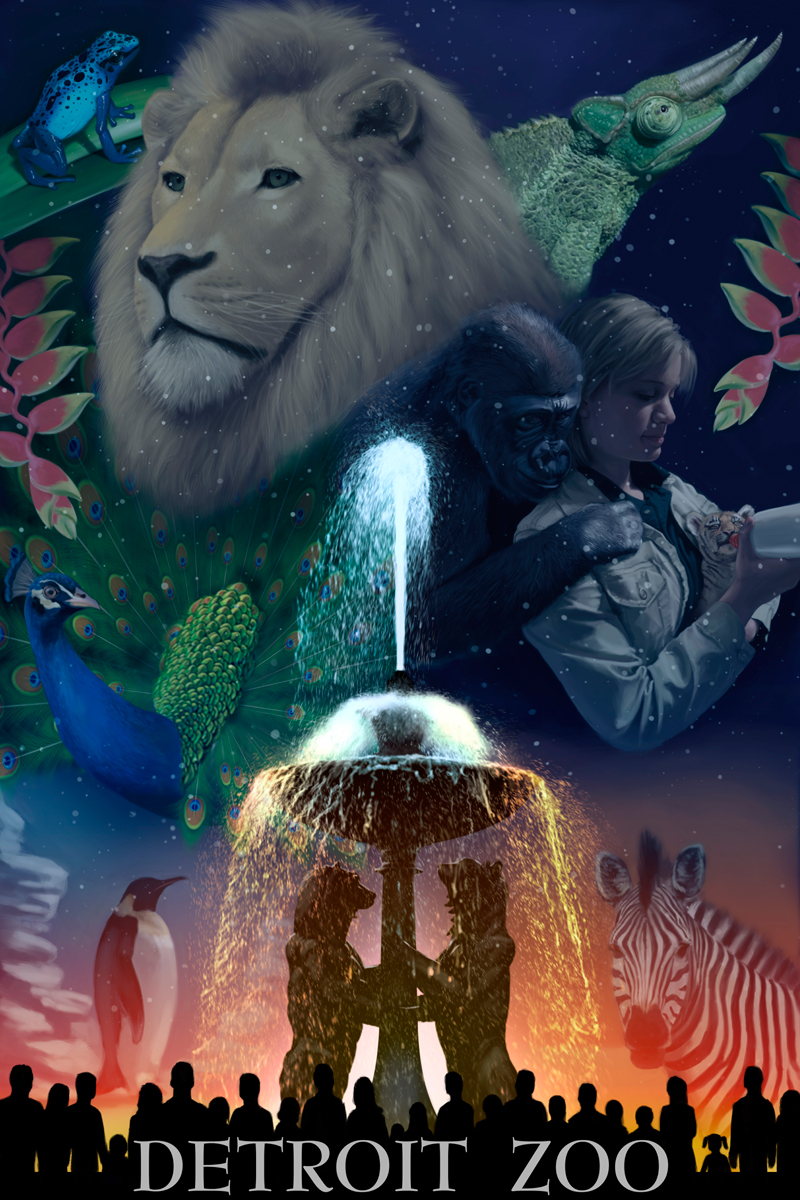 Detroit Zoo Poster