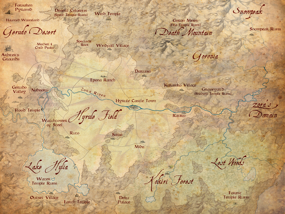 Map of the Kingdom of Hyrule