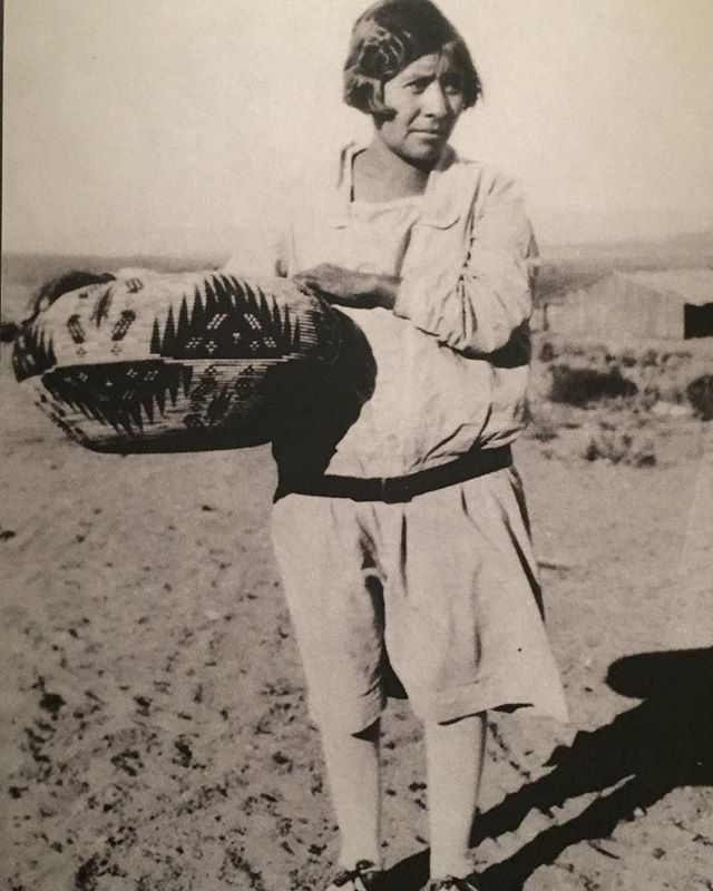 Carrie Bethel holding her gigantic basket, California, 1929. @metmuseum #dikercollection